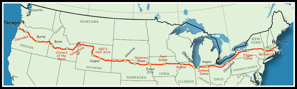 Map Of Us 20 Media information About the Historic US Route 20 Association   The
